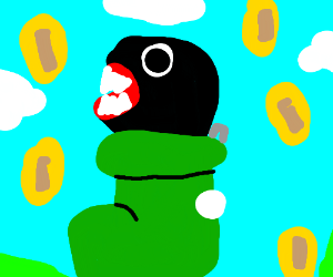 Chain chomp in boot, also coins.