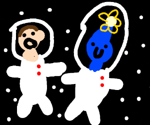 O limar and Pikman in space