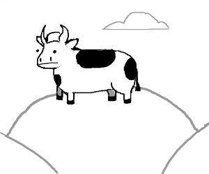 Miauw miauw I'm a cow