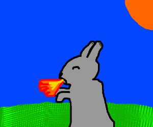 fire breathing rabbit