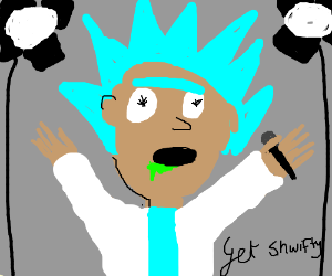 Rick Sanchez is on stage.