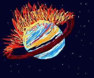 Saturn Set On Fire!