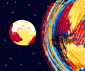 Pluto runs from the Fire and Ice sun