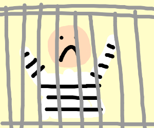 person in jail