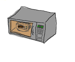 Putting microwave oven in a microwave oven