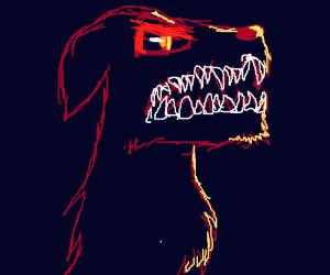 angry dog beast