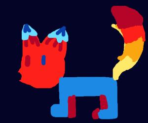 half fire, half ice fox