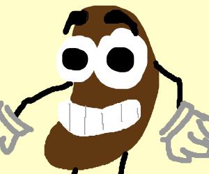 smol bean i mean a character not a real bean drawception