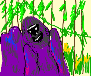 Purple Gorilla In The Junge Drawing By Poochkies Drawception