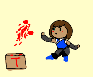 Korra, the new avatar, learns tomato bending