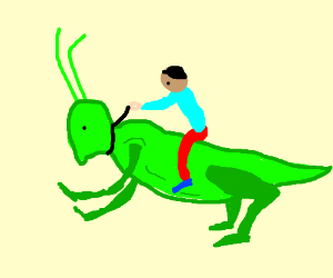 red guy riding giant insect whit lighthing drawception rh drawception com Cartoon Crickets Silence Cartoon Crickets Silence