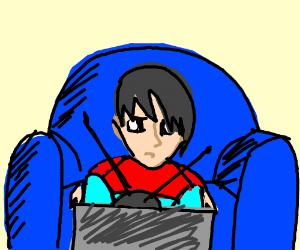 Image result for clip art of sad children watching TV