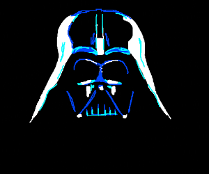 Darth Vader in the dark