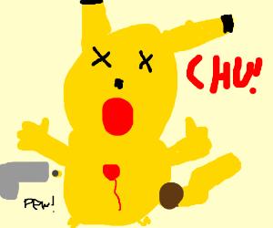 Pikachu getting shot