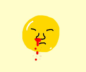 A bloody nose emoji
