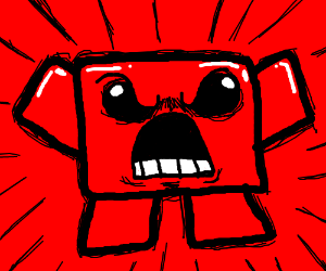 Angry meat (meat boy maybe?)