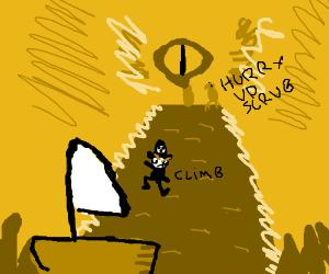 Pirates climb volcano