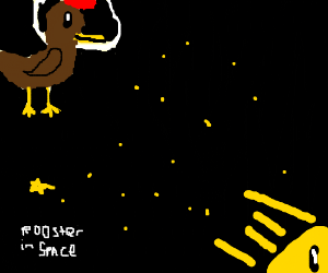 Rooster in Space