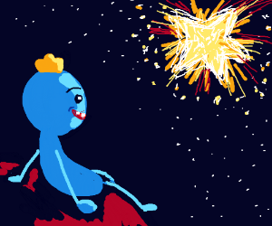 Mr. Meeseeks watches exploding star