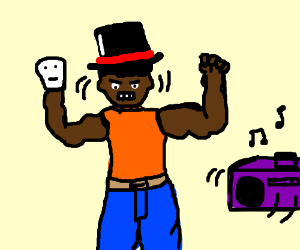 Macho Man Sock Puppeteer in a Tophat