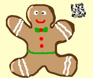 Swastika, censored, gingerbread man