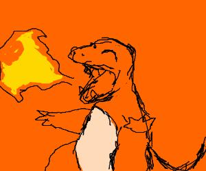 weird fire-breathing salamander'