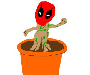 Baby Groot + Baby Deadpool combined