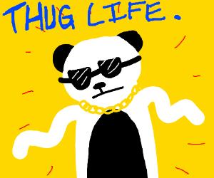 Thug Panda Drawing By Wispypuppy Drawception