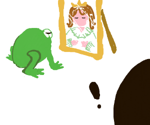 I think this frog is really a princess.