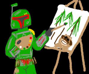 Boba fett Ross paints woke mountain