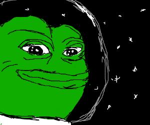 Pepe enjoying outer space