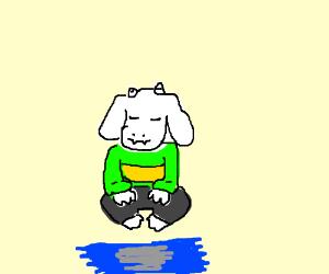Meditating Asriel