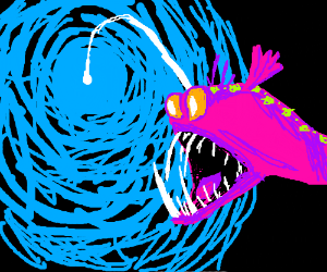 Ooooh it's an Angler Fish!
