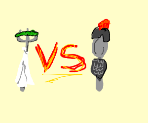 The Greek Fork VS The Spartan Spoon!!