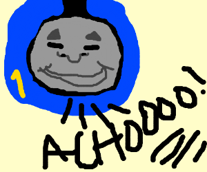 Thomas the Tank Engine sneezes