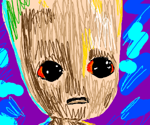 baby groot painting