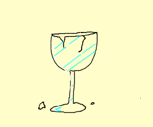 Broken Wine Glass Drawing By Sheith Drawception