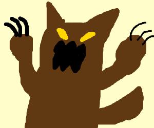 Angry dog-bear