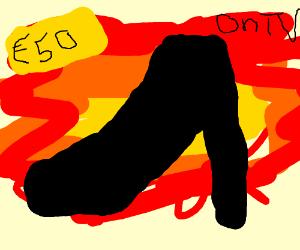 Explosive stiletto heel commercial