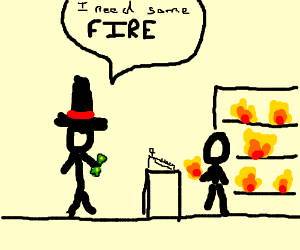 buy fire for 50 punds
