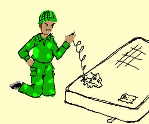 soldier fixing matress