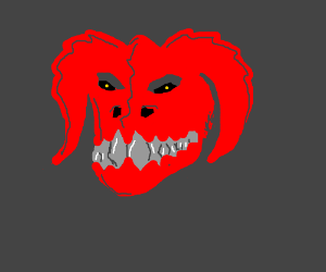 A red deathclaw! Kill it! Kill it with fire!