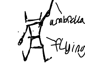 Umbrella makes you FLYYYYYYY!!!!