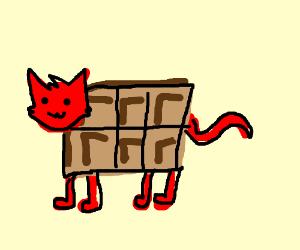 rasberry cat with chocolate body