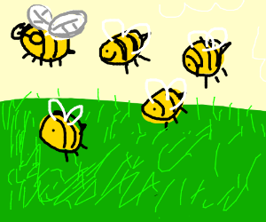 Bees are having a field day, literally.