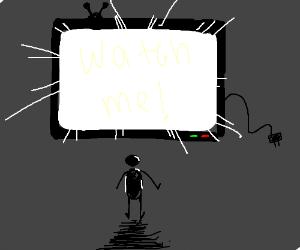 A jumbo TV