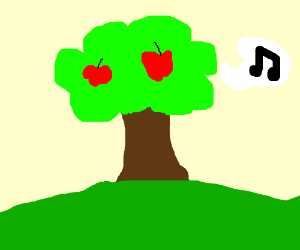 Apple tree is singing