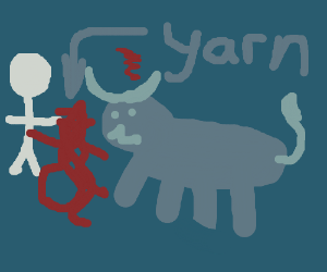 Bullfighting with yarn instead of a cape