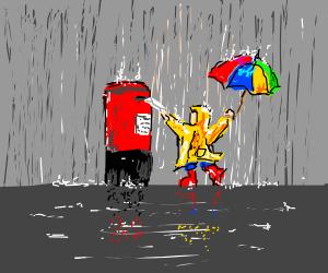 Sending a Letter in the Rain
