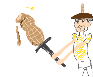 Sword made by the butter of peanut